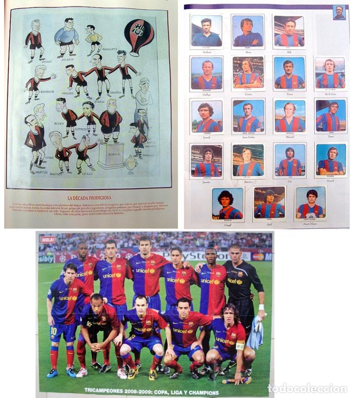 LOTE BARCELONA: LIBRO DE ORO BARSA 1899 1995, CROMOS HISTORICOS 1973 A 1999 Y POSTER FINAL CHAMPIONS (Coleccionismo Deportivo - Álbumes y Cromos de Deportes - Álbumes de Fútbol Completos)