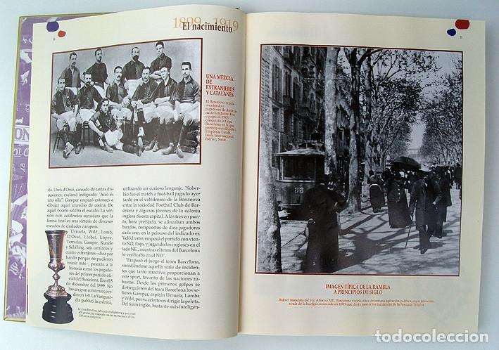 Álbum de fútbol completo: Lote Barcelona: Libro de oro Barsa 1899 1995, Cromos historicos 1973 a 1999 y POSTER FINAL CHAMPIONS - Foto 4 - 135738799