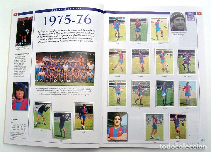 Álbum de fútbol completo: Lote Barcelona: Libro de oro Barsa 1899 1995, Cromos historicos 1973 a 1999 y POSTER FINAL CHAMPIONS - Foto 21 - 135738799