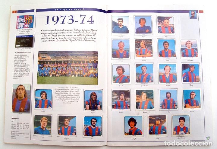 Álbum de fútbol completo: Lote Barcelona: Libro de oro Barsa 1899 1995, Cromos historicos 1973 a 1999 y POSTER FINAL CHAMPIONS - Foto 31 - 135738799