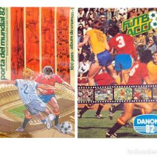 Álbum de fútbol completo: 2 ALBUM 1982 MUNDIAL 82 FUTBOL EN ACCION DANONE Y PORTA DEL MUNDIAL. COMPLETOS. BUEN ESTADO. Lote 80727098