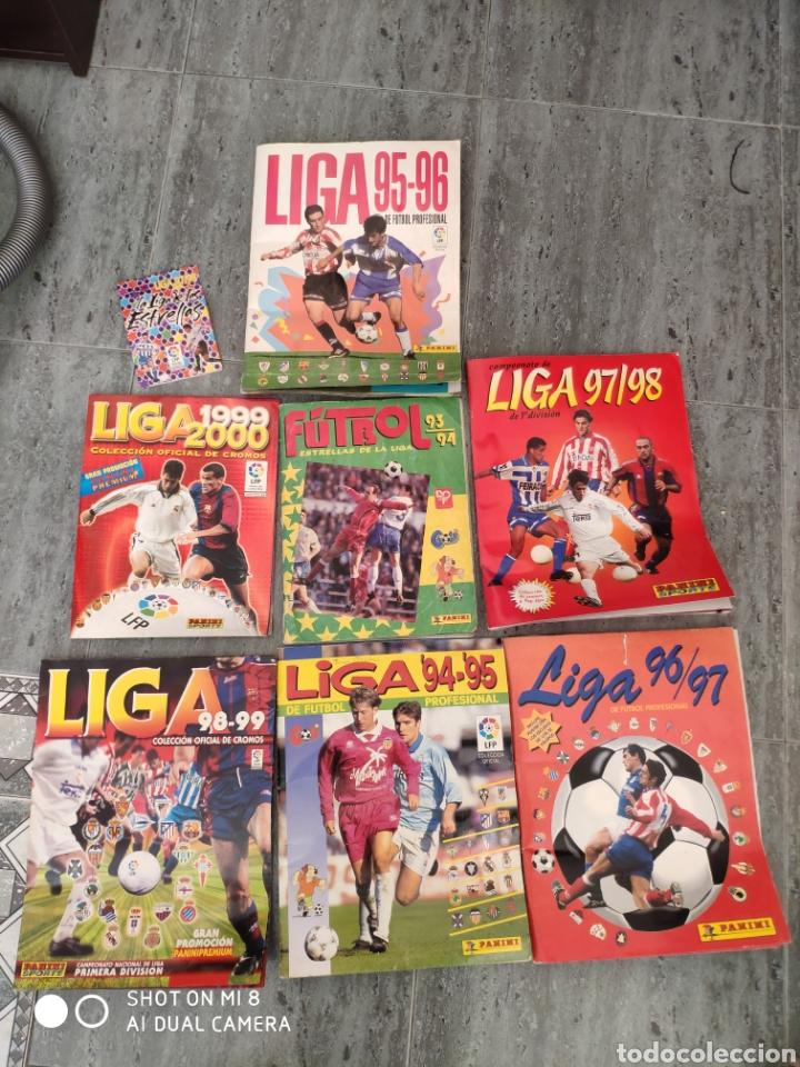 7 ÁLBUMES FUTBOL LIGA ESPAÑOLA (Coleccionismo Deportivo - Álbumes y Cromos de Deportes - Álbumes de Fútbol Completos)
