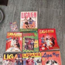 Álbum de fútbol completo: 7 ÁLBUMES FUTBOL LIGA ESPAÑOLA. Lote 177712264