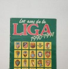 Album de football complet: ALBUM COMPLETO LOS ASES DE LA LIGA 90 91 DE AS. Lote 178226303