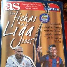 Álbum de fútbol completo: FICHAS DE LA LIGA FÚTBOL PRIMERA DIVISIÓN 2005. DIARIO AS. 226 FICHAS. Lote 246190080