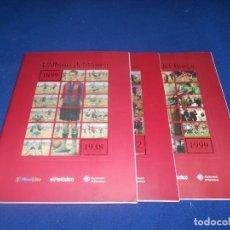 Álbum de fútbol completo: 3 L´ALBUM DEL BARÇA DE 1939 A 1999 - EDITA EL PERIODICO (REEDICIÓN) ESTÁN COMPLETOS - F.C. BARCELONA. Lote 178562952