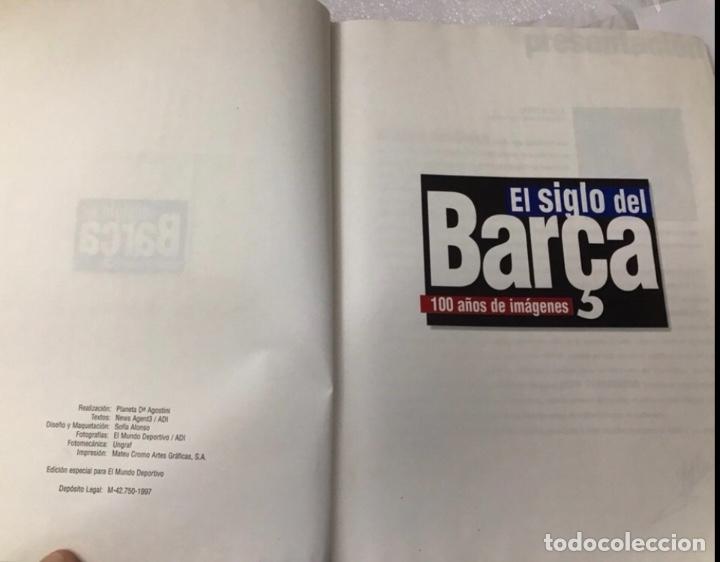 Álbum de fútbol completo: Libro el siglo del barça 100 años de imágenes 1997 completo - Foto 3 - 178635943