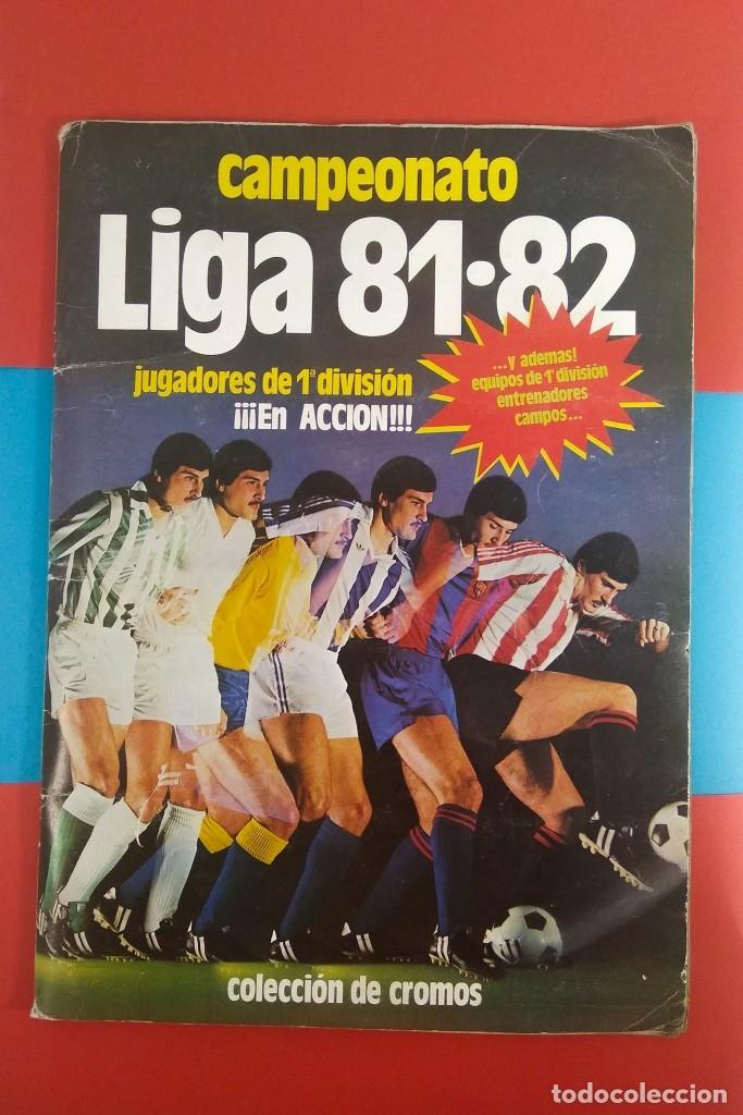 ÁLBUM CAMPEONATO DE LIGA 1981-82 COMPLETO (Coleccionismo Deportivo - Álbumes y Cromos de Deportes - Álbumes de Fútbol Completos)