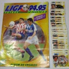 Álbum de fútbol completo: ALBUM CROMOS FUTBOL LIGA 94-95 1994-1995 ESTE CON 327 CROMOS. Lote 178877845