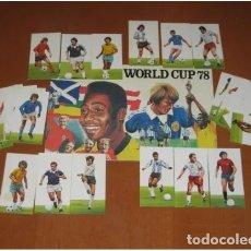 Álbum de fútbol completo: 1978 ALBUM MUNDIAL DE FUTBOL ARGENTINA 78 WORLD CUP - ALBUM + CROMOS SIN PEGAR. Lote 179129316