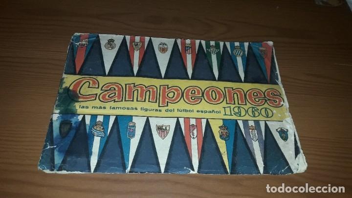 ÁLBUM CAMPEONES DE BRUGUERA 1960 COMPLETO Y CON DOBLES (Coleccionismo Deportivo - Álbumes y Cromos de Deportes - Álbumes de Fútbol Completos)