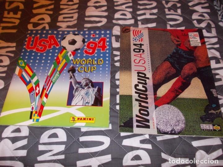 MUNDIAL USA 94 LOTE DE DOS ALBUM COMPLETOS (Coleccionismo Deportivo - Álbumes y Cromos de Deportes - Álbumes de Fútbol Completos)