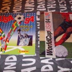 Álbum de fútbol completo: MUNDIAL USA 94 LOTE DE DOS ALBUM COMPLETOS. Lote 180077831