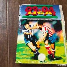 Álbum de fútbol completo: ALBUM DE FUTBOL LIGA ESTE 1993-94 COMPLETO (-5) + REGALO - TODAS LAS FOTOS. Lote 180252535