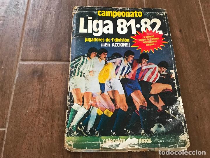 ALBUM LIGA ESTE 1981-82 COMPLETO, INCLUSO MUCHAS CASILLAS CON 2 CROMOS - VER FOTOS - (Coleccionismo Deportivo - Álbumes y Cromos de Deportes - Álbumes de Fútbol Completos)