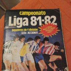 Álbum de fútbol completo: ALBUM CAMPEONATO DE LIGA 81-82 ESTE COMPLETO Y CON 19 COLOCAS Y PEGADOS POR ARRIBA SEGUN FOTOS. Lote 180289106