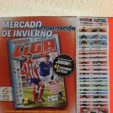 Álbum de fútbol completo: LIGA ESTE - 2014-2015, COLECCIÓN COMPLETA -MERCADO DE INVIERNO + ACTUALIZACIÓN-SIN PEGAR NUEVO. Lote 180291235