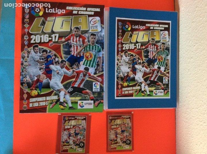 LIGA ESTE 2016-2017, COLECCIÓN COMPLETA TODO LO EDITADO CON LOS ERRORES EN CLASIFICADOR -NUEVO (Coleccionismo Deportivo - Álbumes y Cromos de Deportes - Álbumes de Fútbol Completos)