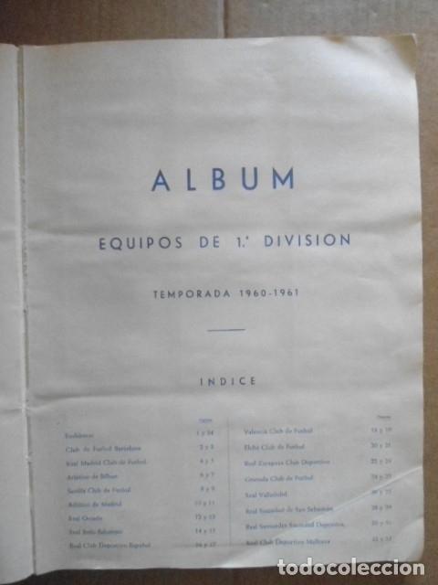 Álbum de fútbol completo: ALBUM COMPLETO FUTBOL 1960/61 EDITORIAL FERCA,EN EXCELENTE ESTADO - Foto 3 - 33343843