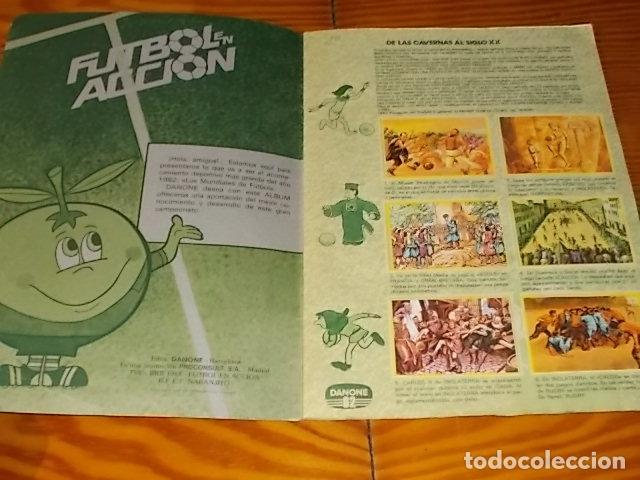 Álbum de fútbol completo: ÁLBUM DE CROMOS FÚTBOL EN ACCIÓN. DANONE 82 . COMPLETO. 96 CROMOS. 1981. UNA JOYA!!! - Foto 2 - 181438253