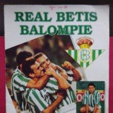 Álbum de fútbol completo: REAL BETIS BALOMPIÉ. ÁLBUM DE CROMOS. Lote 182505656