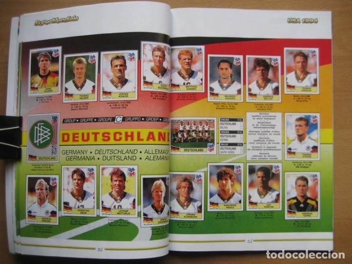 Álbum de fútbol completo: 1994 COPA DEL MUNDO - LIBRO - ALBUM MUNDIAL DE FUTBOL USA 94 - PANINI - Foto 12 - 182830842