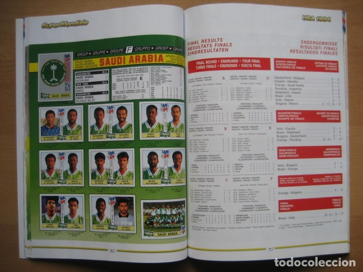 Álbum de fútbol completo: 1994 COPA DEL MUNDO - LIBRO - ALBUM MUNDIAL DE FUTBOL USA 94 - PANINI - Foto 17 - 182830842