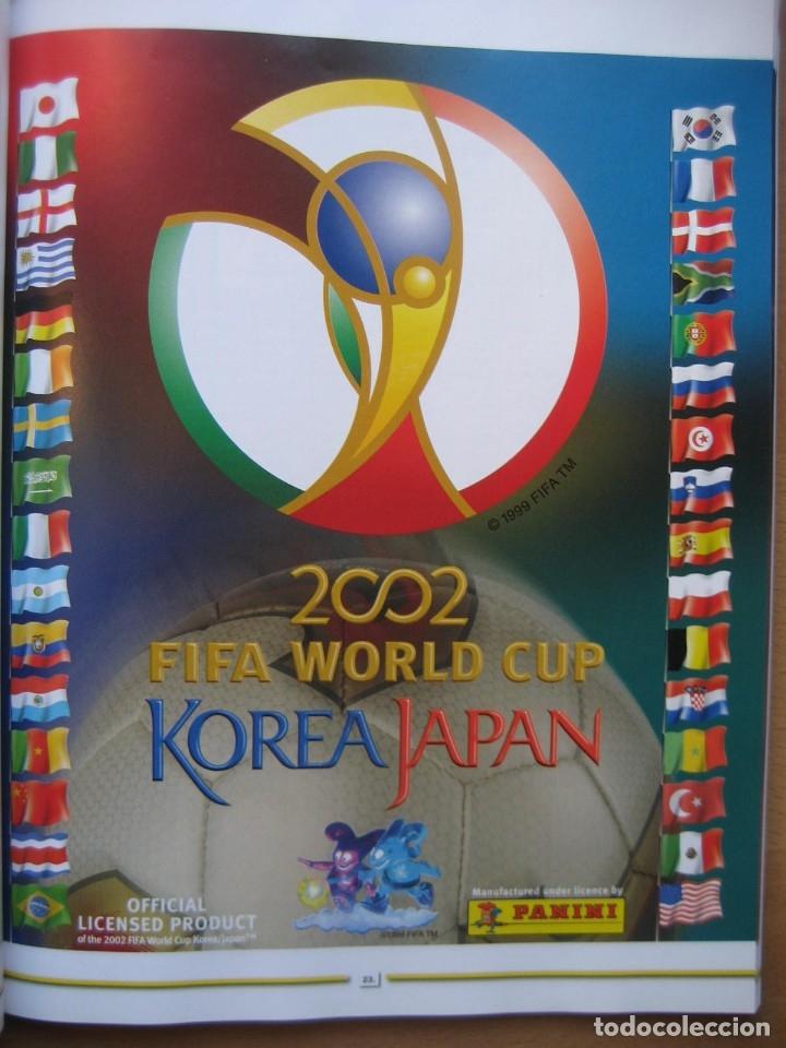 2002 COPA DEL MUNDO - LIBRO - ALBUM MUNDIAL DE FUTBOL KOREA JAPON - PANINI (Coleccionismo Deportivo - Álbumes y Cromos de Deportes - Álbumes de Fútbol Completos)