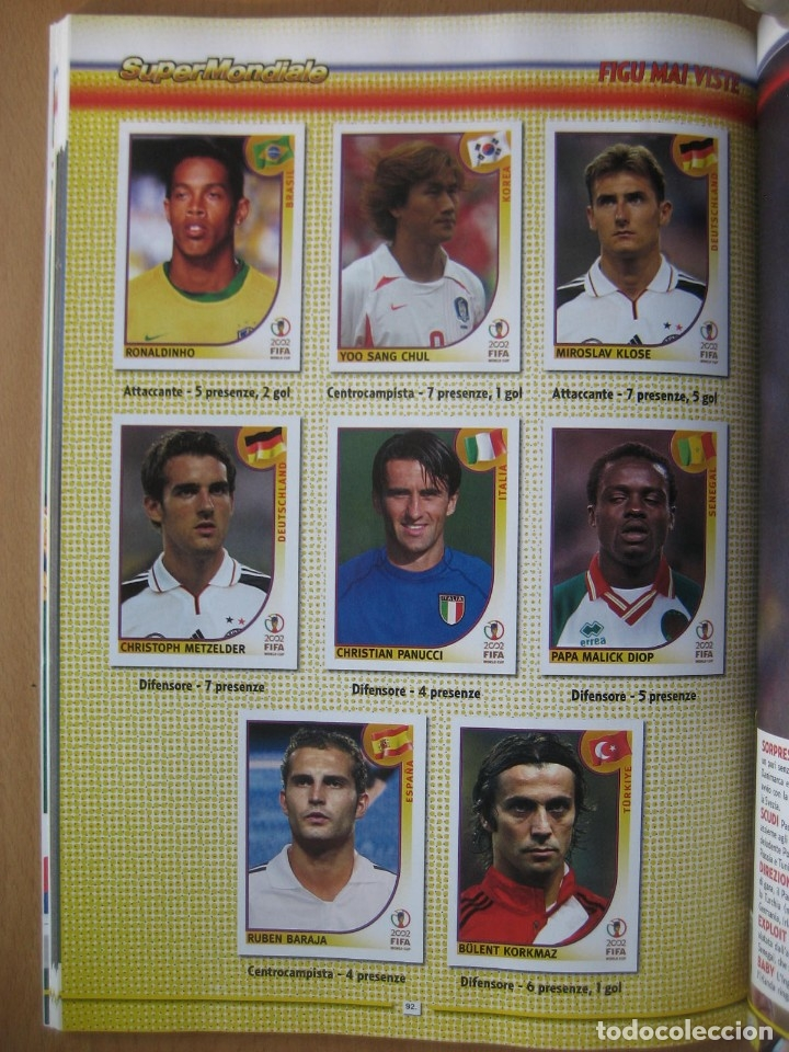Álbum de fútbol completo: 2002 COPA DEL MUNDO - LIBRO - ALBUM MUNDIAL DE FUTBOL KOREA JAPON - PANINI - Foto 15 - 182832630