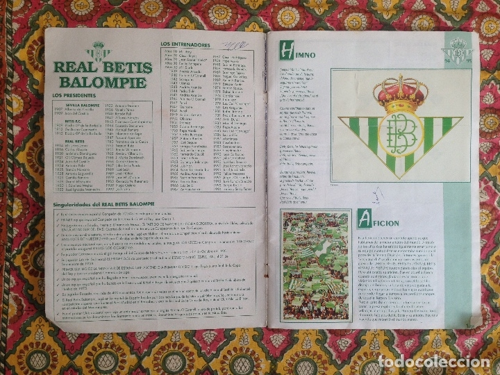 Álbum de fútbol completo: ALBUM BETIS COMPLETO FIRMADO POR JUGADORES - Foto 2 - 182945462