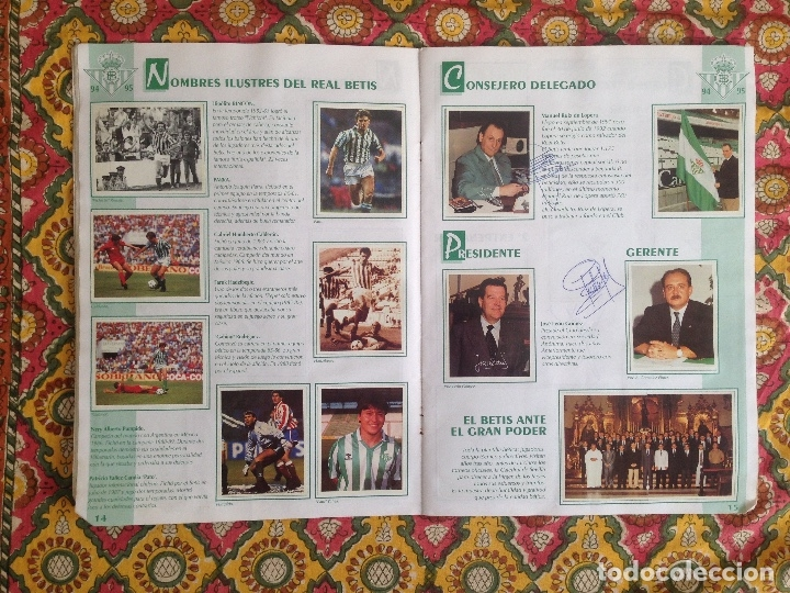 Álbum de fútbol completo: ALBUM BETIS COMPLETO FIRMADO POR JUGADORES - Foto 9 - 182945462
