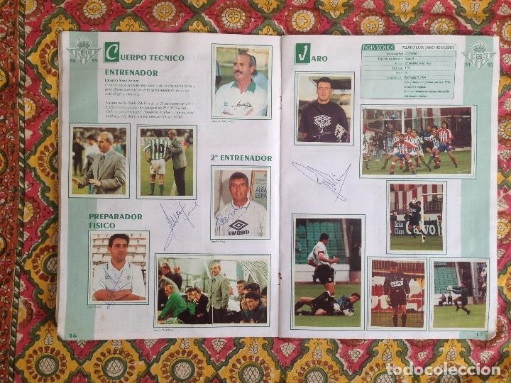 Álbum de fútbol completo: ALBUM BETIS COMPLETO FIRMADO POR JUGADORES - Foto 10 - 182945462