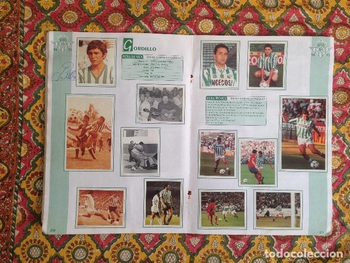 Álbum de fútbol completo: ALBUM BETIS COMPLETO FIRMADO POR JUGADORES - Foto 11 - 182945462