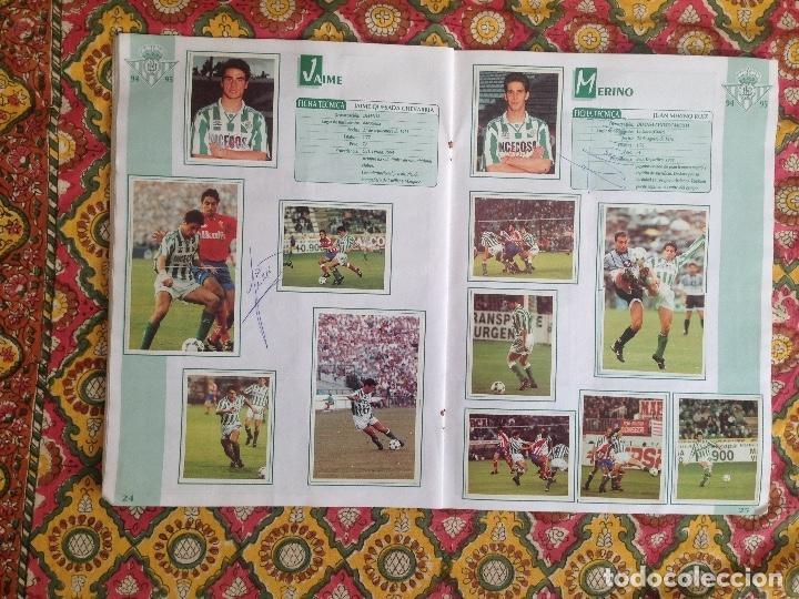 Álbum de fútbol completo: ALBUM BETIS COMPLETO FIRMADO POR JUGADORES - Foto 13 - 182945462