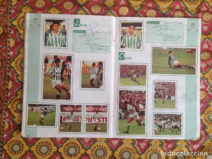 Álbum de fútbol completo: ALBUM BETIS COMPLETO FIRMADO POR JUGADORES - Foto 14 - 182945462