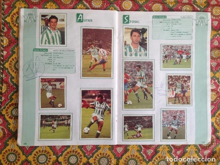 Álbum de fútbol completo: ALBUM BETIS COMPLETO FIRMADO POR JUGADORES - Foto 16 - 182945462