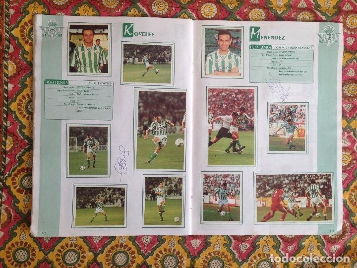 Álbum de fútbol completo: ALBUM BETIS COMPLETO FIRMADO POR JUGADORES - Foto 17 - 182945462