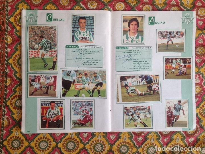 Álbum de fútbol completo: ALBUM BETIS COMPLETO FIRMADO POR JUGADORES - Foto 19 - 182945462
