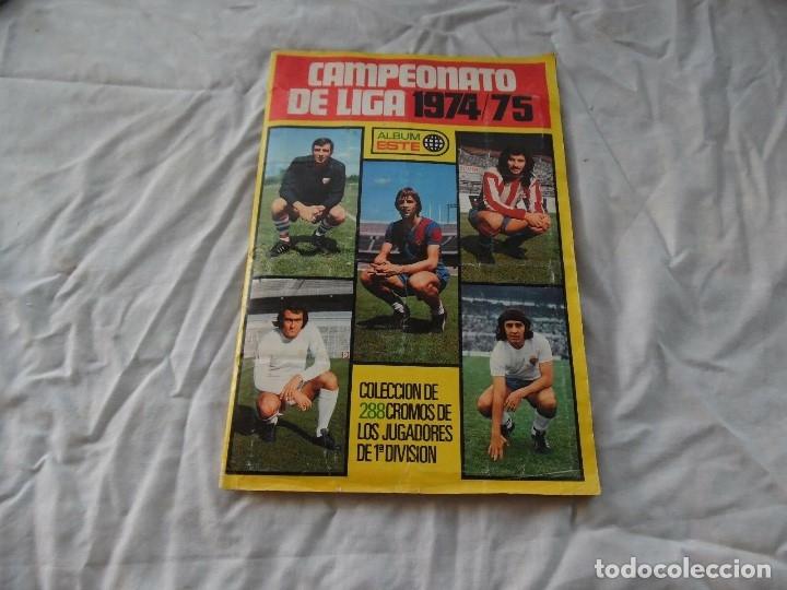 ALBUM DE FUTBOL EDICION ESTE TEMP 1974-75 COMPLETO CON SEÑALES DE USO (Coleccionismo Deportivo - Álbumes y Cromos de Deportes - Álbumes de Fútbol Completos)