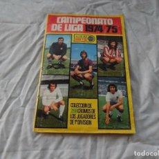 Álbum de fútbol completo: ALBUM DE FUTBOL EDICION ESTE TEMP 1974-75 COMPLETO CON SEÑALES DE USO. Lote 182987807