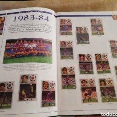 Álbum de fútbol completo: FC BARCELONA. HISTORIA EN CROMOS. 3 ALBUMES COMPLETOS. Lote 183345541