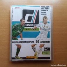Álbum de fútbol completo: ARCHIVADOR DONRUSS SOCCER 2016 2017 16 17 PANINI USA COLECCIÓN BASICA COMPLETA (200) + 50 ESPECIALES. Lote 183550101
