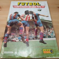 Caderneta de futebol completa: ALBUM DE CROMOS DE FUTBOL , ESTE , LIGA 1976 / 77 MUY BUEN ESTADO 187 NORMALES Y 20 DOBLES. Lote 183694908