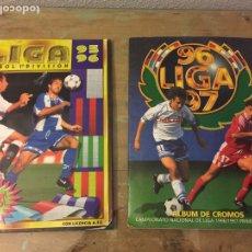 Álbum de fútbol completo: ÁLBUM LIGA ESTE COMPLETO 95 96 Y LIGA 96 97 TAMBIÉN COMPLETO. Lote 183706882