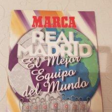 Álbum de fútbol completo: REAL MADRID EL MEJOR EQUIPO DEL MUNDO, MARCA ALBUM DE CROMOS , COMPLETO. Lote 183848002