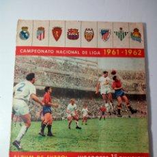 Álbum de fútbol completo: EXCEPCIONAL ALBUM DE CROMOS DE FUTBOL. TEMPORADA 61/62. EDITORIAL BARCICROM. COMPLETO. Lote 183858478