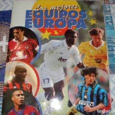 Álbum de fútbol completo: LOS MEJORES EQUIPOS DE EUROPA 96-97. Lote 183859563
