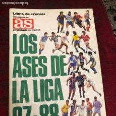 Álbum de fútbol completo: ALBUM DE CROMOS DE FUTBOL LOS ASES DE LA LIGA 87-88 COMPLETO - VER LAS FOTOS. Lote 183962766