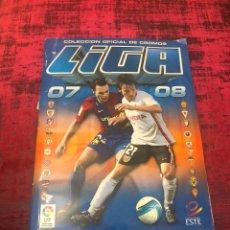 Álbum de fútbol completo: ANTIGUO ALBUM DE CROMOS COMPLETO - LIGA 2007 - 2008 - 07 - 08 - COLECCIONES ESTE. Lote 184058242