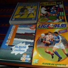 Álbum de fútbol completo: ESTE LIGA 94 95 1994 1995 COMPLETO 95 96 1996 INCOMPLETO AD GIGANTES 18 19 VACÍO. REGALO FICHAS 2005. Lote 184240175